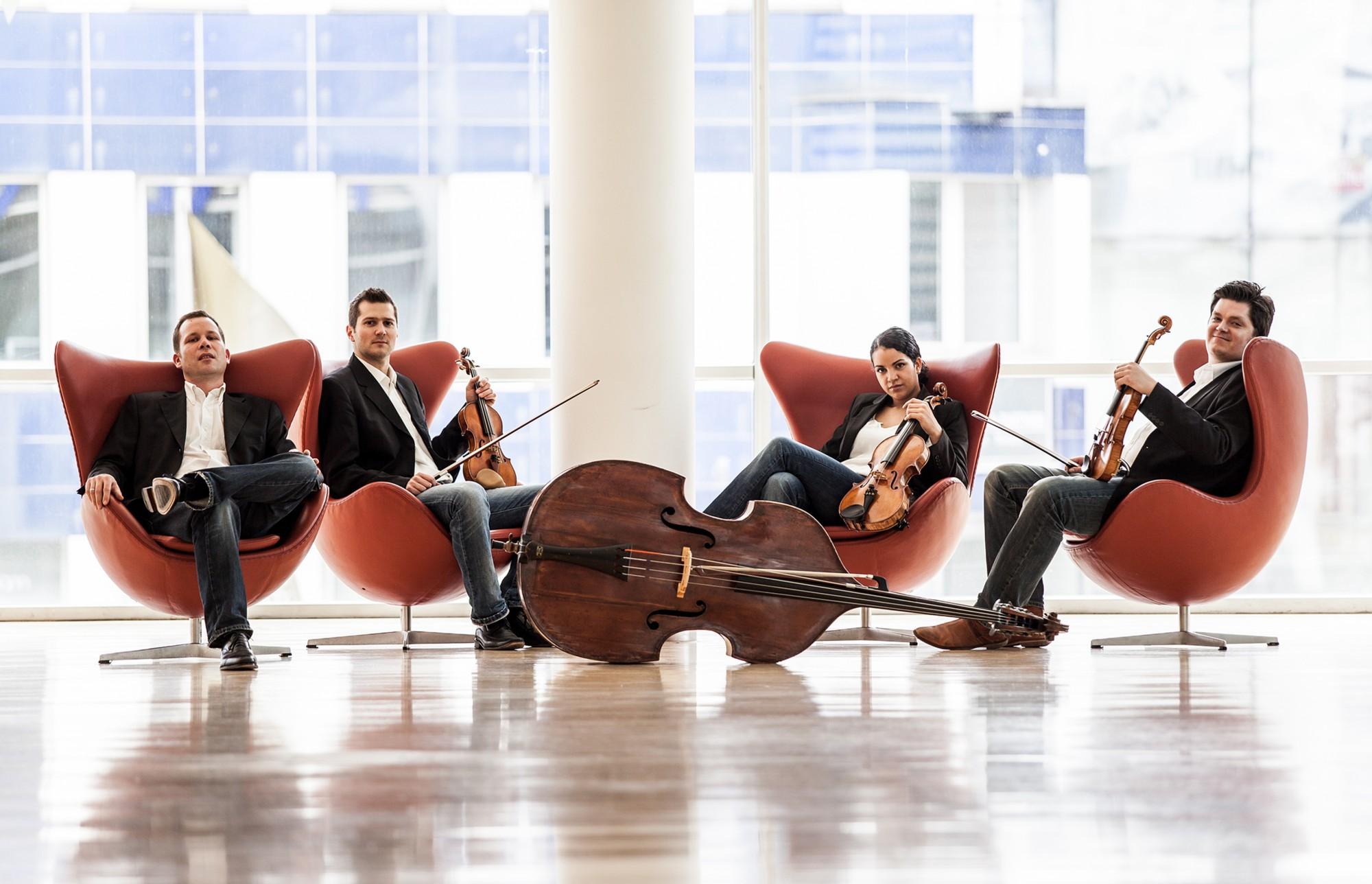 Mercator-Ensemble Mercatorhalle Streichquartett Kammermusik Fotoshooting Klassik Jazz Walzer Tangos